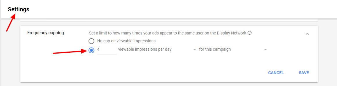 Честота на показване на рекламата ви дневно