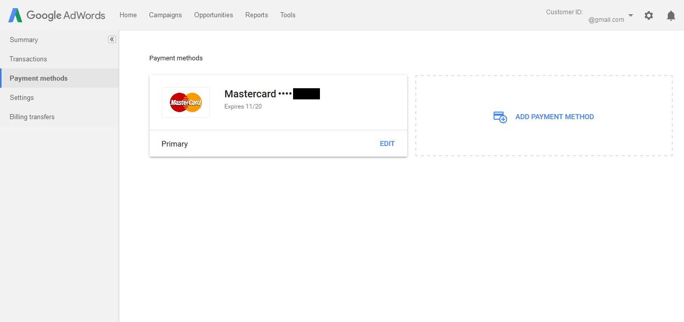Настройки на плащанията в AdWords